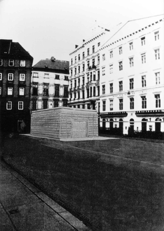 Rachel Whiteread, Holocost Memorial, Judenplatz, Vienna. Courtesy of Anthony d'Offay Gallery, London