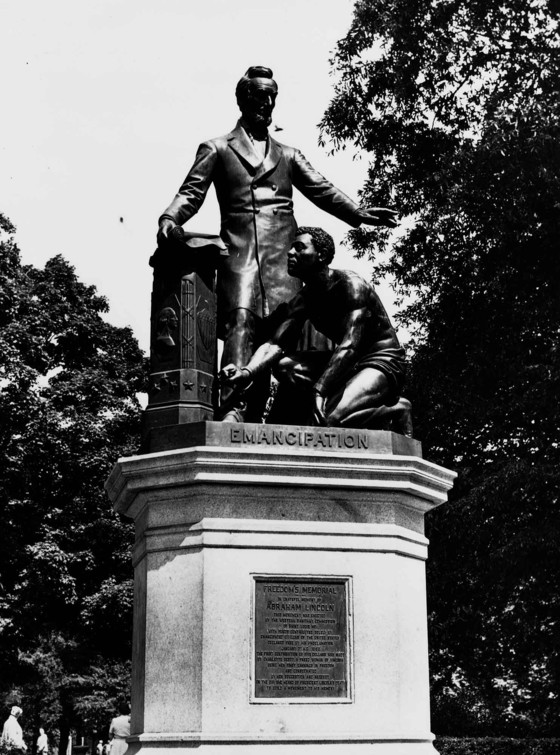 Thomas Ball, Freemen's Memorial to Abraham Lincoln (Emancipation Monument), Lincoln Park, Washington, DC, 1876. Courtesy of the Library of Congress