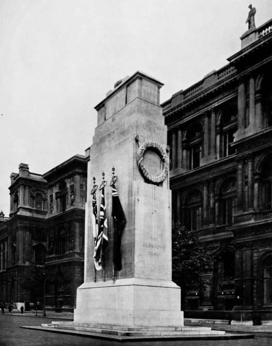 Sir Edwin Lutyens, The Cenotaph, Whitehall, London, 1920. From The Architecture of Sir Edwin Lutyens, Hamlyn Publishing, 1950.
