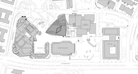 Site plan. Courtesy Preston Scott Cohen, Inc.