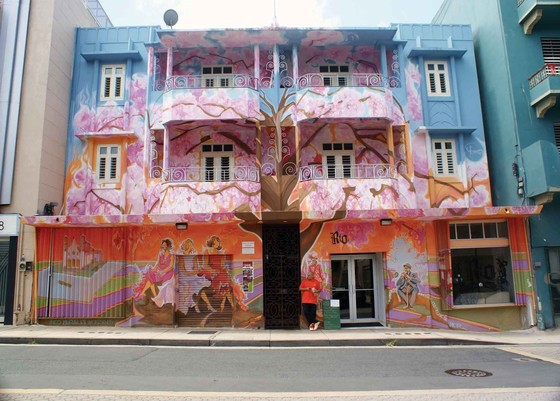 1016 Ponce de León Avenue, Río Piedras, Puerto Rico, 1932. Revamped in 2008 with a mural by Yehimar Ureña.