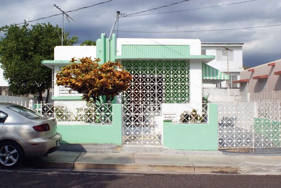A house within the Morel Campos Public Housing Development, a federally funded project sponsored by the Puerto Rico Reconstruction Administration (PRRA), Ponce, Puerto Rico, 1936-37.