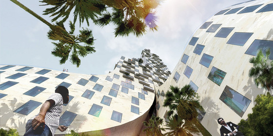 Bjarke Ingels Group, Boscolo Hotel, rendering, Nice, France, 2009. Courtesy Bjarke Ingels Group