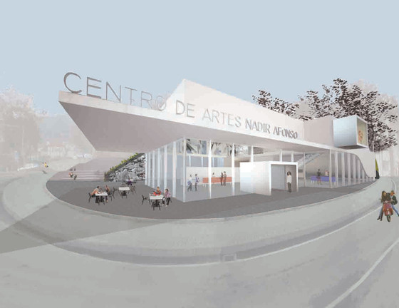 Louise Braverman, Centro de Artes Nadir Afonso, renderings, Borticas, Portugal, 2010. (c) Louis Braverman, Architect