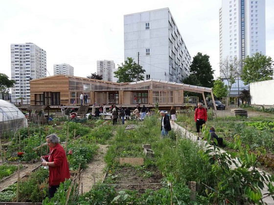 Community gardens at Agrocité—an agro-cultural unit within the R-Urban network in Colombes, June 2013. Photo: aaa.