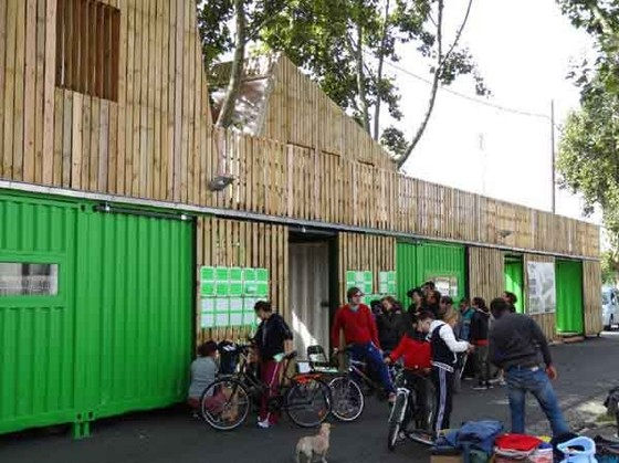 Recyclab, recycling and eco-construction unit, R-Urban Colombes, October 2013. Photo: aaa.