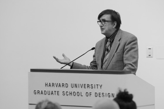 "Bruno Latour, ""Networks and Spheres,"" February 17, 2009, GSD. Photo: Justin Knight"