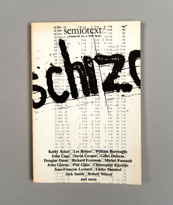 Cover of Semiotext(e) 8, no. 2 (1978).