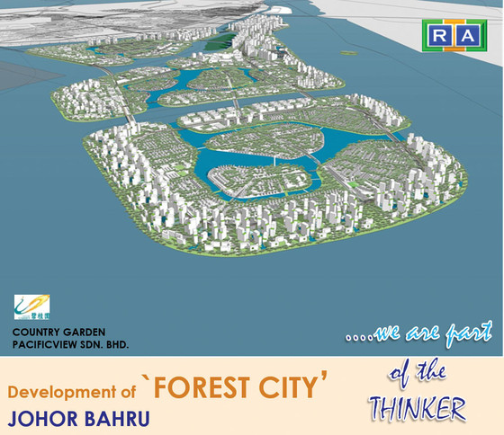 Rendering of Forest City, a new development in Johor, Malaysia.