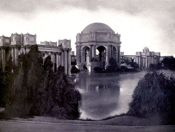 Bernard Maybeck, Palace of Fine Arts soon after its construction, San Francisco, 1915.