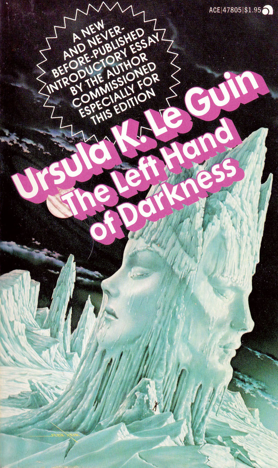Cover of Ursula K. Le Guin's The Left Hand of Darkness, 1977.