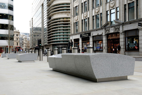 Concrete Barriers HQ and Townscape Products Limited, counter terror blocks, 20 Fenchurch Street, London, 2014.