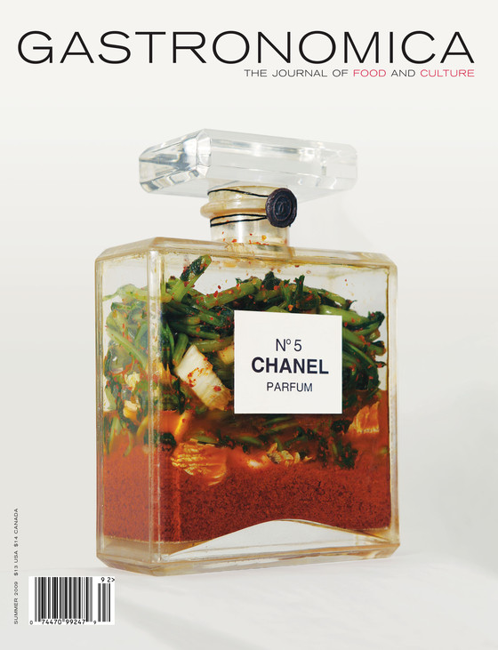 Gastronomica cover, summer 2009, featuring Hongtu Zhang, Kimchi-Chanel, 1997.