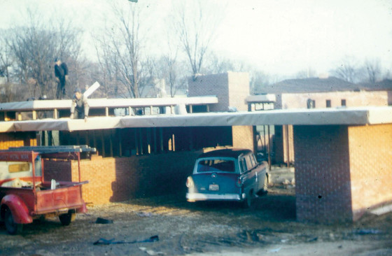 Frank Lloyd Wright, SAMARA House under construction, 1950.