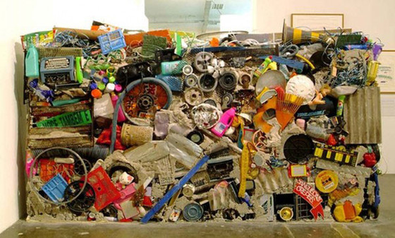 Gordon Matta-Clark, Garbage Wall, 1970; recreated at David Zwirner, New York, 1999.