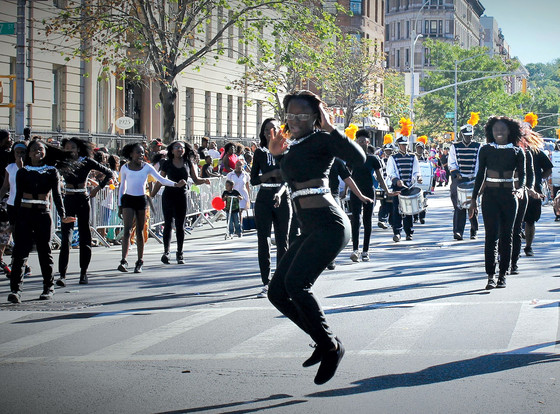 Marching Cobras, African American Day Parade, Adam Clayton Powell Jr. Boulevard, New York, New York, 2015.