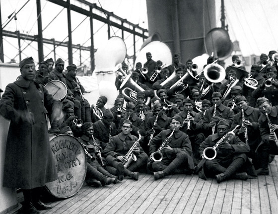 Lt. James Reese Europe (left) and members of his 369th Infantry Regiment (aka Harlem