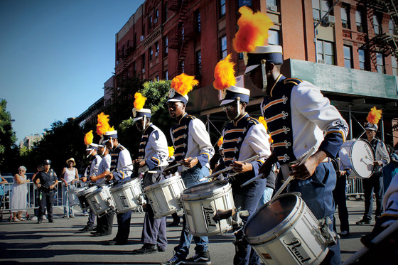 Members of the Marching Cobras at the African American Day Parade, New York, New York, 2015.