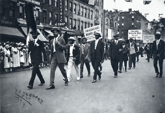 James VanDerZee, Marcus Garvey marching at a Universal Negro Improvement Association convention, New York, New York, 1924.