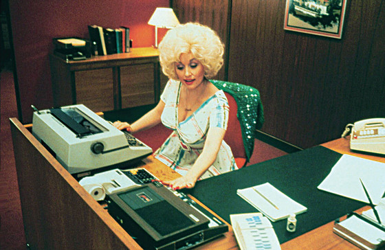 Dolly Parton in a film still from 9 to 5, 1980.