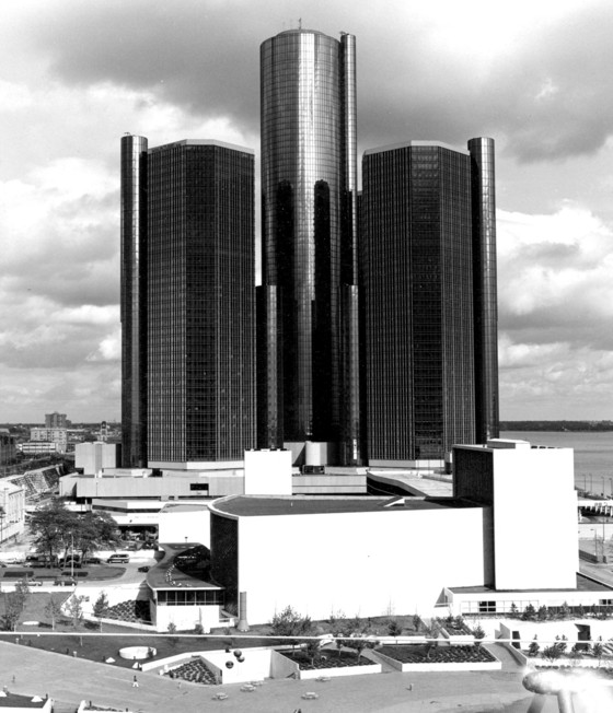 John Portman & Associates, Renaissance Center, Detroit, 1977.