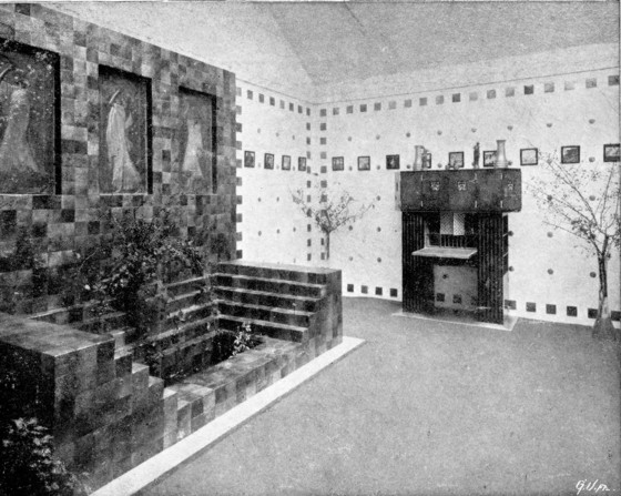 View of the 15th Exhibition of the Vienna Secession, 1902.