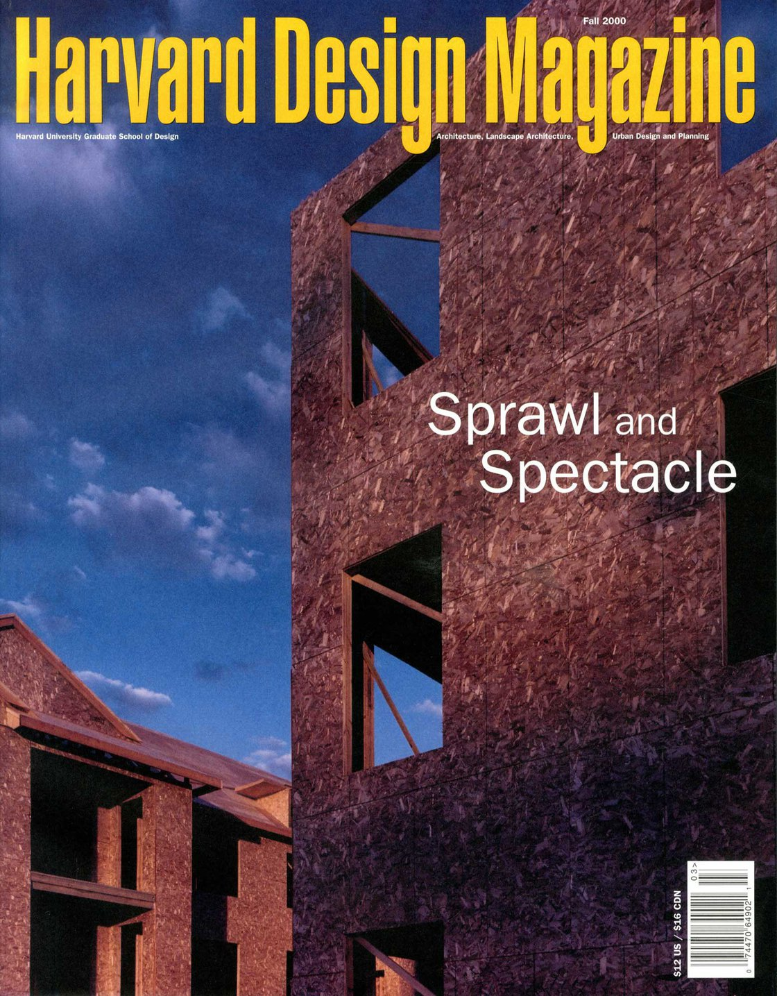 No. 12, Fall 2000 Sprawl and Spectacle