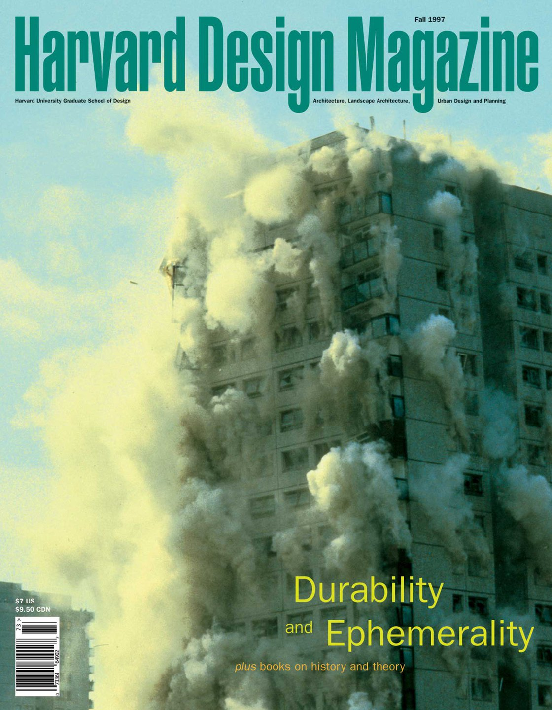 No. 3, Fall 1997 Durability and Ephemerality, plus Books on History and Theory